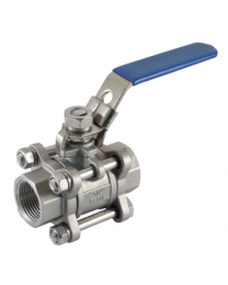 316 Stainless Steel 3 Piece Lever Ball Valves, Female
