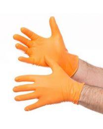 Jefferson Gecko Grip Orange Nitrile Gloves Large