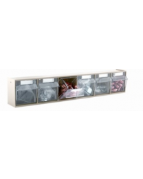 Barton TopStore ClearBox 6 Drawer Part Bin Rack