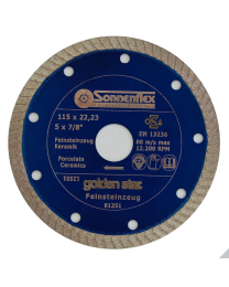 Sonnenflex 115 X 1.2 X 22.2MM Continuous Rim Diamond Blade for Tiles