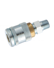 "PCL M100 Series Airline Coupling 1/2"" BSPT Male"