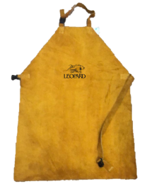 Chrome Leather Welders Apron With Leather Strap