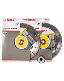 Bosch 230mm Diamond Blade Twinpack with Free SDS Click Nut