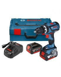 Bosch GSB 18v-60c Combi drill, 2 x 5.0Ah Batteries, charger and case