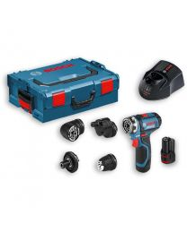 Bosch GSR 12V-15 FC Flexi-Click 12 Volt Drill Driver,  2 x 2.0Ah Batteries, Charger and Case