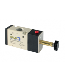 "Kelm 3/2 Way Normally Closed Solenoid/Spring Valve 1/8"" BSP"