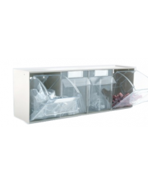 Barton TopStore ClearBox 4 Drawer Part Bin Rack