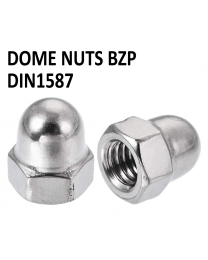 Dome Nuts BZP