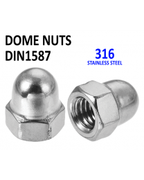 A2 Dome Nuts Stainless Steel