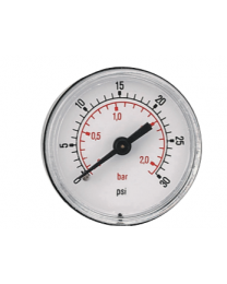 Pressure Gauge 40mm With ABS Case, Center Back Connection