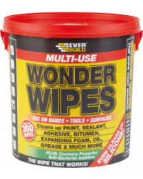 Everbuild Multi Use Wonder Wipes Giant Tub 300 Wipes