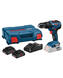 Bosch GSB 18 V-55 Brushless Cordless Combi Drill With 2 x 4Ah Procore Batteries, Charger and Case