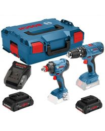 Bosch GSB 18V-28 + GDX 18V-180 18v Cordless Twinkit  With 2 x 4AH ProCore Batteries, Charger and Case