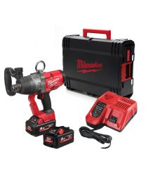 """Milwaukee M18ONEFHIWF1-802X Fuel One Key High Torque 1"""" Drive Impact wrench, 2 x 8Ah High Output Batteries, Charger and Case."""