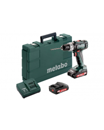 Metabo SB 18 L 18V Combi Drill With 2 x 2AH Batteries Charger and Case