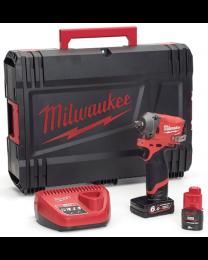 Milwaukee M12FIWF12-622X 12V Fuel 1/2″ Impact Wrench Kit