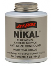 Jet-Lube Nikal High Temprature Anti-Seize and Gasket Compound Brush Top 500g