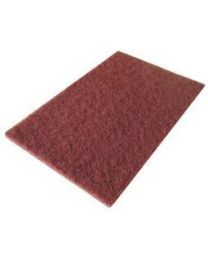 Non woven handpads 152mm x 229mm Maroon Medium