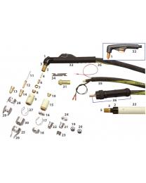 P150 Cebora Plasma Cutting Torch Main Consumables