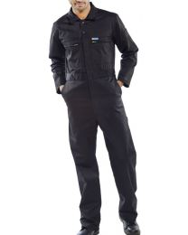 Super Click Zip Front Boiler Suit Navy