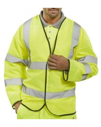 "Hi-Vis Long Sleeve ""Jerkin"" Vest Yellow"