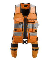 Snickers AllroundWork, High-Vis Tool Vest Class 1 Orange/Black