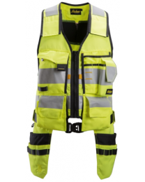 Snickers AllroundWork, High-Vis Tool Vest Class 1 Yellow/Black