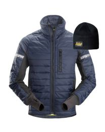 Snickers 8101 AllroundWork, 37.5 Insulator Jacket Navy Large With FREE Beanie