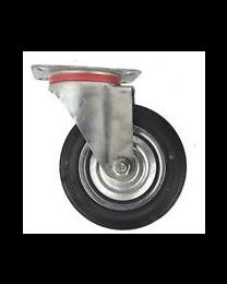 Fixed Castor Rubber Wheel