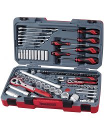 "Teng Tools 1/4"" & 1/2"" Drive 95pc Automotive Tool Kit with Case TM095"