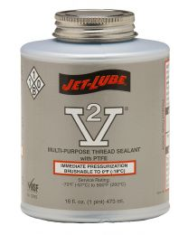 Jet-Lube V-2 Multi-Purpose Thread Sealant Brush Top 500g