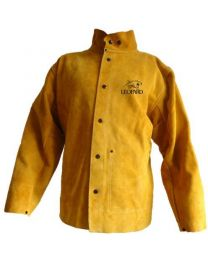 Premium Gold Leather Welders Jacket XL