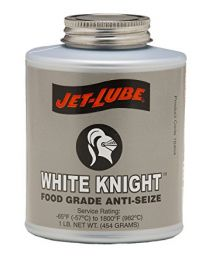 Jet-Lube White Knight Food Grade Anti-Seize 500g Brush Top