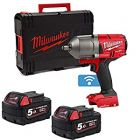 "Milwaukee M18ONEFHIWF12-502X Fuel One Key High Torque Impact wrench 1/2"" Drive, 2 x 5.0Ah Batteries, Charger and Case"